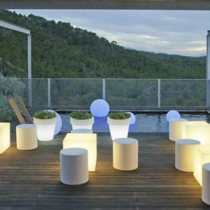 NEW GARDEN lampa ogrodowa CUBY 20 biała - LED