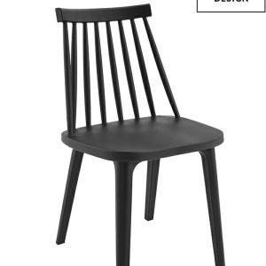 MODESTO krzesło RIBS BLACK czarne - polipropylen