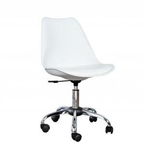 INVICTA Krzesło biurowe SCANDINAVIA -  białe