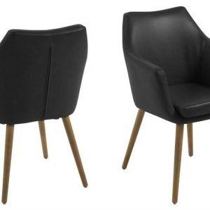 ACTONA krzesło NORA  - ekoskóra czarny