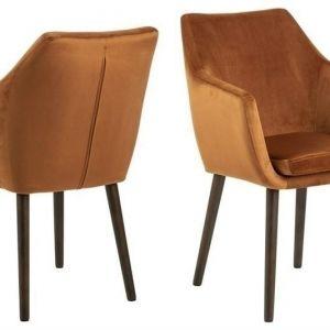 ACTONA krzesło NORA  - tkanina miedziany