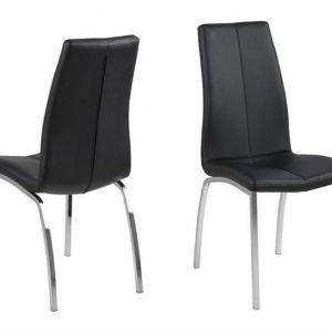 ACTONA krzesło ASAMA ekoskóra czarne