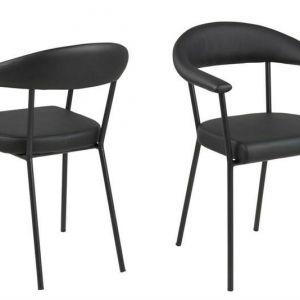 ACTONA krzesło AVA ekoskóra czarne