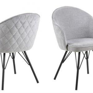 ACTONA krzesło tapicerowane MITZIE szare