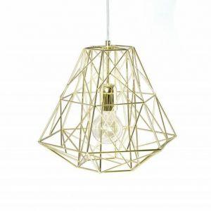 INVICTA lampa wisząca CAGE S złota